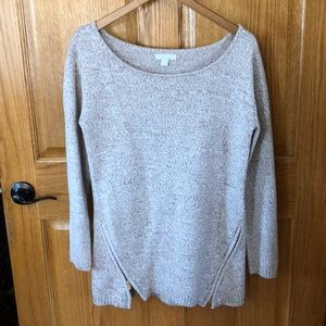 Long Sleeve Tan Sweater Comfy Material Size Small